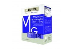 F ECTIVE Essential Nutrients Magnesium & Vitamin B6 Συμπλήρωμα με Μαγνήσιο, 30tabs