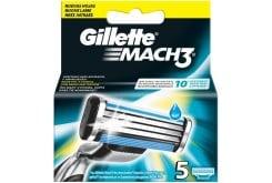 Gillette Mach 3 Ανταλλακτικά Ξυριστικής Μηχανής, 5 τεμάχια