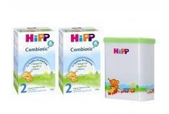 2 x Hipp Bio Combiotic 2 Organic Milk for Infants 6m+, 2 x 600 gr & GIFT Milk Storage Container