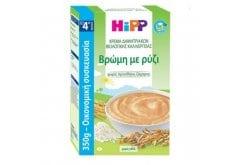 Hipp Βιολογική Κρέμα Δημητριακών με Βρώμη με Ρύζι από τον 4ο μήνα, 350gr