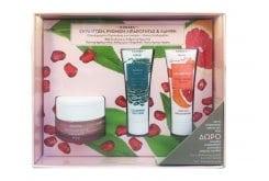 Korres Set με Κρέμα Gel Ρόδι Ενυδάτωσης & Άμεσης Σμηγματορύθμισης, 40ml, Mask Green Clay Μάσκα Καθαρισμού για Λιπαρές Επιδερμίδες, 18ml & Grapefruit Instant Brightening Mask Μάσκα Άμεσης Λάμψης με Γκέιπφρουτ, 18ml