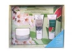 Korres Set με Almond Blossom Κρέμα Ενισχυμένης Ενυδάτωσης & Θρέψης, 40ml, Natural Clay Deep Cleansing Mask Μάσκα Προσώπου για Βαθύ Καθαρισμό από Λευκή Άργιλο, 18ml & Watermelon Cool Refreshing Mask Μάσκα Προσώπου για Αναζωογόνηση με Καρπούζι, 18ml