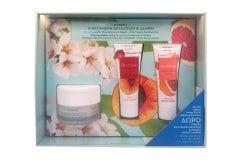 """Εικόνα του """"Korres Set με Almond Blossom Κρέμα Ενισχυμένης Ενυδάτωσης & Θρέψης, 40ml, Nectarine Velvet Moisturizing Mask Μάσκα Προσώπου με Νεκταρίνι για Εντατική Ενυδάτωση, 18ml & Grapefruit Instant Brightening Mask Μάσκα Άμεσης Λάμψης με Γκέιπφρουτ, 18ml"""""""