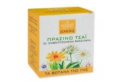 Johnz Ρόφημα Πράσινο Τσαϊ, 1.2 gr x 10 φακελάκια