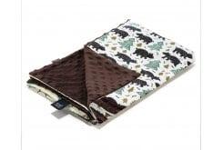 La Millou Alaska Baribal Chocolate Λεπτή Κουβερτούλα Διπλής Όψης 100cm x 80cm, 1 τεμάχιο