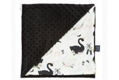 La Millou Moonlight Swan Black Λεπτή Κουβερτούλα Διπλής Όψης 100cm x 80cm, 1 τεμάχιο