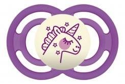 Mam Perfect Night 285S Πιπίλα Νύχτας 16+ μηνών με Θηλή-Μετάξι Σιλικόνης, 1 τεμάχιο - Φούξια