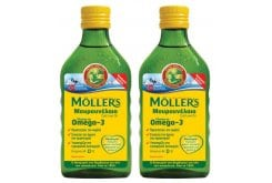 2 x Moller's Cod Liver Oil Natural in liquid form in Classic Flavor of Cod Liver Oil, 2 x 250ml