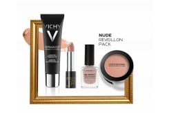 Nude Reveillon Pack με Vichy Dermablend 3D Make Up No.45 Gold, 30ml, Morello Creamy Lipstick 04 Honey Nude Κρεμώδες Κραγιόν, 3.5ml, Korres Gel Effect Nail Colour No.31 Sandy Nude Βερνίκι Νυχιών, 11ml & La Roche Posay Toleriane Teint Blush No. 03 Ρουζ , 5g