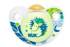 Nuk Trendline Night & Day Πιπίλα Καουτσούκ που λάμπει στο Σκοτάδι, 18+ μηνών, 1 τεμάχιο
