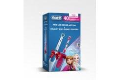 Oral-B Pro 600 CrossAction + Vitality Kids Disney Frozen Ηλεκτρικές οδοντόβουρτσες, 2τμχ