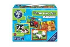 Orchard Toys Farm Four in a Box Jigsaw Puzzle for 3 Y+, 1 pc