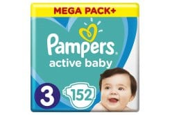 Pampers Active Baby Mega Pack No.3 (6-10kg) Diapers, 152pcs