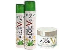2 x Premium Aloe V Βιολογικό Gel Αλόης Βέρα με Γλυκαντικό από Στεβία & Γεύση Λεμονι, 2 x 750ml & ΔΩΡΟ Premium Aloe V Ενυδατική Προσώπου, 50ml