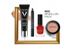 Red Reveillon Pack με Vichy Dermablend 3D Make Up No. 15 Opal, 30ml, Korres Twist Lipstick Matte Ruby Red Ματ Κραγιόν, 1.5ml, Korres Gel Effect Nail Colour No.53 Royal Red Βερνίκι Νυχιών, 11ml & La Roche Posay Toleriane Teint Blush No. 02 Ρουζ , 5gr