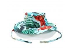 La Millou Safari Hat Hawaiian Blue Birds Βαμβακερό Καλοκαιρινό Καπελάκι για αγόρια & κορίτσια, 1 τεμάχιο