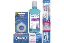 OralB Σύστημα Sensitive Στοματική Υγιεινή για την Ευαισθησία των Δοντιών με Pro Expert Sensitive & Whitening Οδοντόκρεμα, 75ml, Denti e Gengive Στοματικό Διάλυμα, 500ml, Pro Gum Care Ultra Thin 35 Οδοντόβουρτσα, 1 τεμαχιο & Οδοντικό Κηρωμένο Νήμα, 50m