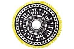 Solillas Azulejos Towel Πετσέτα Θαλάσσης Black-White-Lime, 1 τεμάχιο
