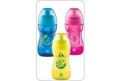 """Εικόνα του """"Mam ποτηράκι Sports cup, για μωρά 12+ μηνών, σε Κίτρινο, Μπλε & Ροζ, 330 ml """""""