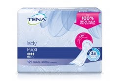 Tena Lady Maxi InstaDry Extra Absorbent Incontinence Pads, 12 pcs