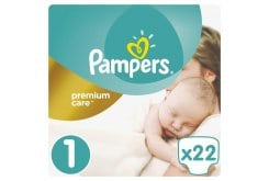 Pampers Premium Care Carry Pack No.1 (Newborn) 2-5 kg Βρεφικές Πάνες, 22 τεμάχια