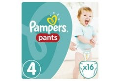 Pampers Pants Carry Pack No.4 (Maxi) 9-14 kg Βρεφικές Πάνες Βρακάκι, 16 τεμάχια
