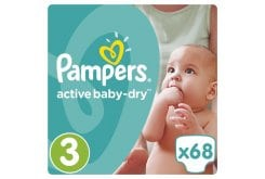 Pampers Active Baby Dry Jumbo Pack No.3 (Midi) 5-9 kg Nappies, 68 pcs