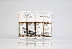 """Εικόνα του """"Sostar """"Το Γάλα"""" Travel Essentials με Σαμπουάν Μαλλιών, 25ml, Conditioner Μαλλιών, 25ml, Αφρόλουτρο Υγιεινής με Ουδέτερο pH, 25ml & Επανορθωτική Κρέμα Χεριών, 25ml"""""""