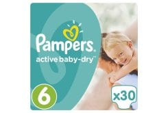 Pampers Active Baby Dry Value Pack No.6(Extra Large) 15+kgΒρεφικές Πάνες, 30 τεμάχια