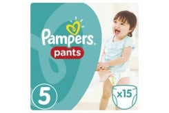 Pampers Pants Carry Pack No.5 (Junior) 12-18 kg Βρεφικές Πάνες Βρακάκι, 15 τεμάχια