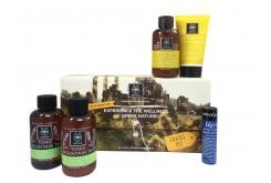 Apivita Rejuvenation Travel Kit με Gentle Daily Shampoo, 75ml, Gentle Daily Conditioner, 50ml, Tonic Mountain Tea Αφρόλουτρο, 75ml, Tonic Mountain Tea Γαλάκτωμα, 75ml & Lip care with Cocoa Butter SPF20, 4.4gr