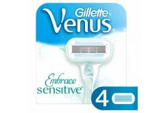 Gillette Embrace Sensitive Ανταλλακτικές Κεφαλές με 5 Λεπίδες για την Ευαίσθητη Επιδερμίδα, 4 τεμάχια