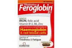 Vitabiotics Feroglobin Slow Release Συμπλήρωμα Σιδήρου Βραδείας Αποδέσμευσης, 30 caps