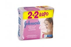 Johnson's Gentle Cleansing Wipes (2+2 ΔΩΡΟ) Μωρομάντηλα, 4 x 56 items