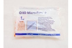 BD Micro-Fine + 12.7mm, Insulin Syringes 29G 10 x 1ml