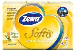 Zewa Softis Soft & Sensitive Χαρτομάντηλα Τσέπης, 6 τεμάχια