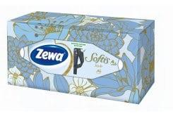 Zewa Softis Style Box Design Επιτραπέζια Χαρτομάντηλα Τετράφυλλα, 80 τεμάχια