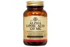 Solgar Alpha Lipoic Acid 120mg Συμπλήρωμα Διατροφής Άλφα Λιποϊκού Οξέως με Αντιοξειδωτική Δράση για Τόνωση του Οργανισμού - Δρα Θετικά στην Καλύτερη Αξιοποίηση της Γλυκόζης, 60veg.caps