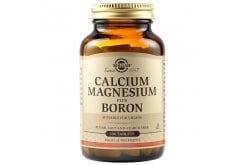 Solgar Calcium Magnesium plus Boron Συμπλήρωμα Διατροφής Μαγνησίου & Βορίου για Καλή Υγεία των Οστών - Χρήσιμο Κατά την Διάρκεια της Εμμηνόπαυσης, 100tabs