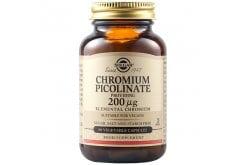 Solgar ChromiumPicolinate 200μg Συμπλήρωμα Διατροφής από Πικολινικό Χρώμιο για Έλεγχο του Σακχάρου στο Αίμα, 90sveg.caps
