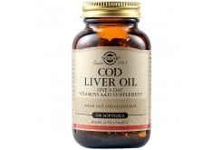 Solgar Cod Liver Oil Μουρουνέλαιο με Βιταμίνες Α & D & Ω3 λιπαρά οξέα, 100 caps