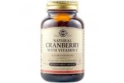 Solgar CranberryExtractWithVitaminC Συμπλήρωμα Διατροφής για την Καλή Υγεία του Ουροποιητικού Συστήματος - Καταπολεμά τα Συμπτώματα της Κυστίτιδας, 60veg.caps