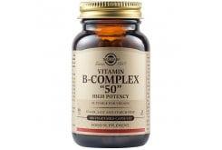Solgar Formula B Complex 50 Σύμπλεγμα Βιταμινών Β για την Καλή Υγεία του Νευρικού & Ανοσοποιητικού Συστήματος - Ιδανικό για Άτομα με Υψηλά Επίπεδα Στρες &  Αίσθημα Κόπωσης, 100veg.caps