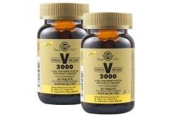 2 x Solgar Formula VM 2000 Πολυβιταμίνη για Ενέργεια & Τόνωση του Οργανισμού - Ιδανική για Καταπολέμηση της Σωματικής & Πνευματικής Κόπωσης, 2 x 60tabs