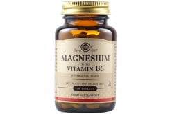 Solgar Magnesium+B6 Συμπλήρωμα Διατροφής Μαγνήσιο σε Συνδυασμό με Βιταμίνη Β6, 100tabs