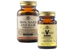 Πακέτο Προσφοράς Solgar Skin, Nails & Hair Formula Φόρμουλα για την Υγεία των Μαλλιών, του Δέρματος & των Νυχιών, 60tabs & Solgar Formula VM 2000 Πολυβιταμίνη για Ενέργεια & Τόνωση του Οργανισμού, 30tabs