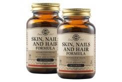 Solgar Skin, Nails & Hair Formula Φόρμουλα Πλούσια σε Βιταμίνες, Αμινοξέα & Μέταλλα για την Υγεία των Μαλλιών, του Δέρματος & των Νυχιών, 2 x 60tabs