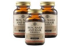 Solgar Skin, Nails & Hair Formula Φόρμουλα Πλούσια σε Βιταμίνες, Αμινοξέα & Μέταλλα για την Υγεία των Μαλλιών, του Δέρματος & των Νυχιών, 3 x 60tabs