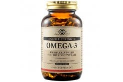 Solgar Omega 3 Double Strength Συμπλήρωμα Διατροφής με Ωμέγα 3  Λιπαρά Οξέα για την Υγεία του Εγκεφάλου & του Καρδιαγγειακού Συστήματος, 120caps