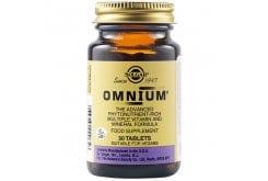 Solgar Omnium Πολυβιταμίνη για Ενέργεια, Τόνωση & Αντιοξειδωτική Προστασία - Ιδανική για Καταπολέμηση της Πνευματικής & Σωματικής Κόπωσης, 30tabs